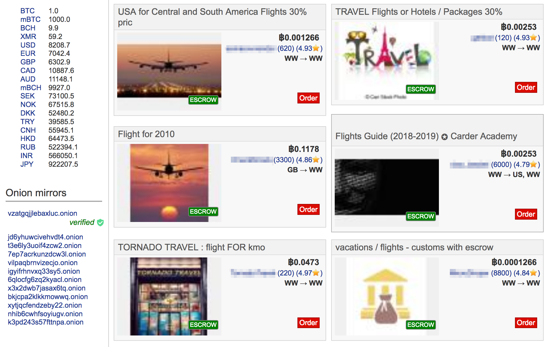 available travel tickets on the dark web